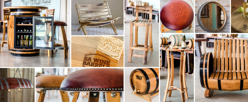 Hand Build Wine Barrel Furniture & Novelty Items