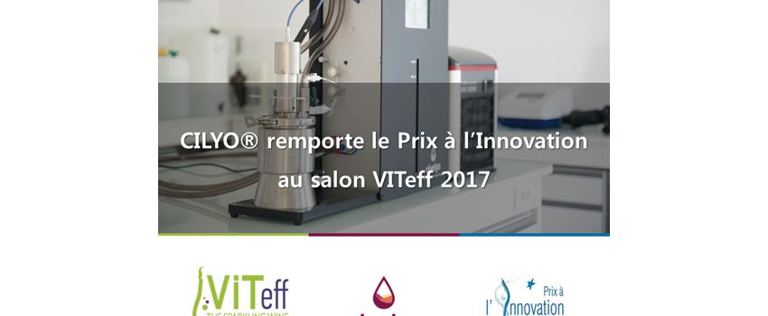 Cilyo® de Vivelys, lauréat du Prix à l'Innovation VITeff 2017 dans la catégorie Œnologie
