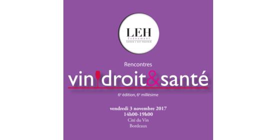 Rencontres Vin, Droit & Santé