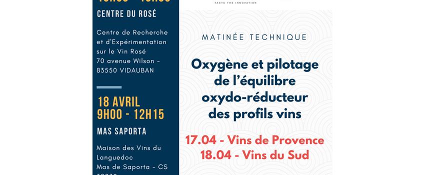 MATINÉE TECHNIQUE - L'OXYGÈNE ET LES PROFILS VINS PAR VIVELYS & DIAM BOUCHAGE