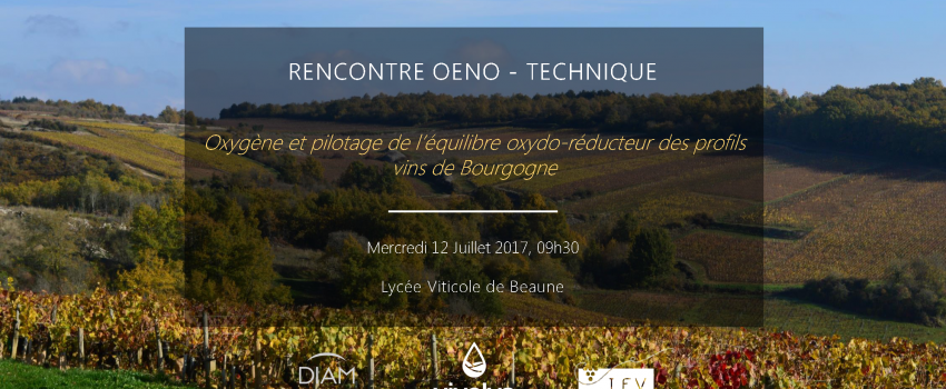 Oxygène et pilotage de l'équilibre oxydo-réducteur des profils vins de Bourgogne.