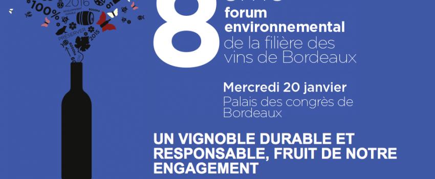 8ème Forum environnemental de la filière des vins de Bordeaux