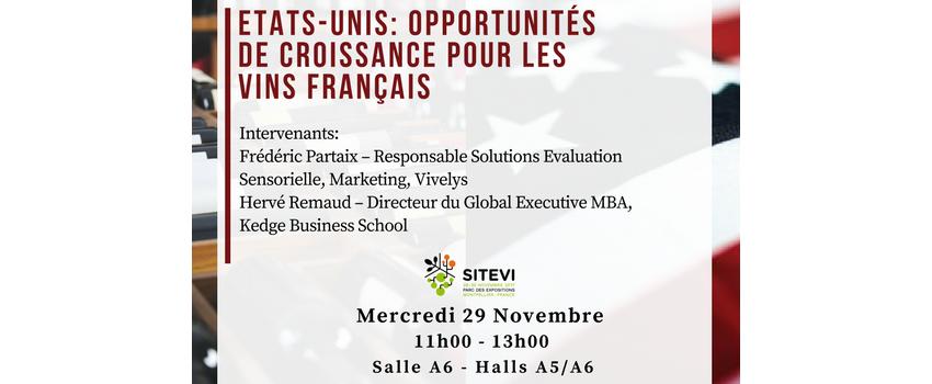 SITEVI - Conférence Opportunités de croissance pour les vins français
